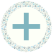 Blue Floral Media Icon - Bloglovin